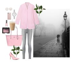 """""""pink"""" by dxminica ❤ liked on Polyvore featuring 7 For All Mankind, WithChic, Coach, Kate Spade, Chanel, NARS Cosmetics, Topshop and ALDO"""