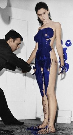 I'm still super obsessed/inspired by the Céline collection, especially the looks inspired by Yves Klein. So now I'm obsessed all over again with Klein's work that inspired Céline…as well as a. Performance Artistique, Yves Klein Blue, Artists And Models, Lady Grey, Art Moderne, Disney Marvel, Land Art, Art Plastique, Famous Artists