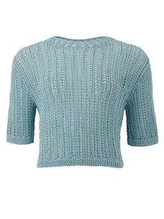 Lucinda Cropped Jumper in Pale Blue Blue Purse, Blue Bags, Long Sweaters, Blue Sweaters, Jumper, Fair Trade Fashion, Blue Handbags, Blue Crop Tops, Cotton Sweater