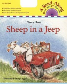 Sheep in a Jeep is one of many books that can be read to introduce rhyming words and to communicate that by changing certain letters in words can create new words. Reading Specialist, Phonological Awareness, Rhyming Words, First Grade Reading, Vowel Sounds, Toddler Books, Classic Books, New Words, Cute Illustration