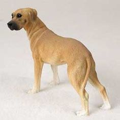 GREAT DANE Dog Fawn Uncropped Ears stands resin figurine DF100B  $12.94