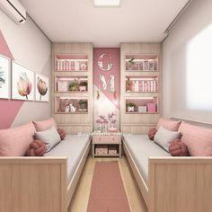 Best 35 Home Decor Ideas - Lovb Small Bedroom Designs, Room Design Bedroom, Home Room Design, Home Decor Bedroom, Twin Girl Bedrooms, Bedroom Decor For Teen Girls, Dream Rooms, Girl Room, Design Ideas