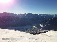 Zettersfeld Ski Resort looking down to Lienz Austria, Mount Everest, Skiing, Adventure, Mountains, Nature, Photos, Travel, Ski