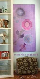 Thompson Family-Life: Pegboard Cross-Stitch Wall Art D.I.Y. (& a giveaway winner!)