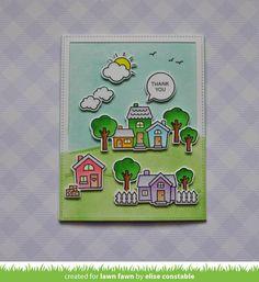 Lawn Fawn - HAPPY VILLAGE - Clear Stamps Set – Hallmark Scrapbook