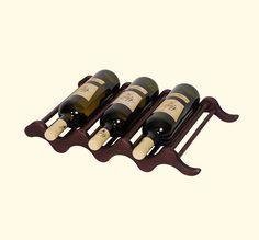 Деревянные змею, которая может поддерживать три бутылки вина
