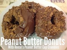 Peanut Butter Donuts with Reese's Peanut Butter Cup Crumbles & Disney's Frozen