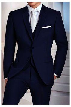 Blue Suit Men, Men In Suits, Men's Blue Suits, Suit For Men, Suit Styles For Men, Formal Suits For Men, Blue Suit Groom, Best Groom Suits, Navy Blue Tuxedos