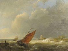 SAILING SHIP POSTER J H Koekkoek Shipping off the Coast