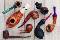 The 2017 American Expostion is here and this time were showcasing accent stems. 22 pipes from 22 artisan carvers. On site now. http://smokingpip.es/2oLtrtf