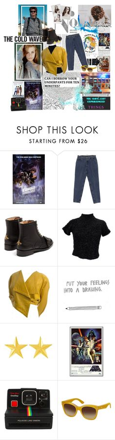 """I always dreamed of somewhere more exciting than boring old Hawkins. I just didn't how exciting Hawkins truly was or terrifying. "" by hufflepuff9832 ❤ liked on Polyvore featuring Gucci, Polaroid, OC, 1980, fashionset and StrangerThings"