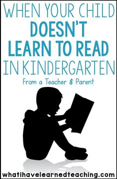 As a teacher and parent, I struggle with the fact that my son has not learned to read in Kindergarten. I am pulled between wanting him to grow academically while still liking school and growing emotionally. Here is my perspective as a teacher and as a parent and what we have done at home to help my son with his reading.