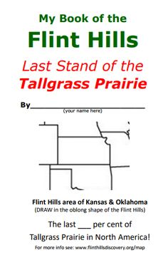 Student friendly printable book identifying the types of grass located in the Tallgrass Prairie. Kansas Day, Types Of Grass, Flint Hills, Teacher Resources, My Books, Printable, Student, Map, Types Of Lawn Grass