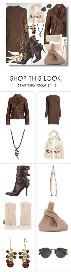 """""""Luxe Leather & Cashmere"""" by simply-one ❤ liked on Polyvore featuring Ralph Lauren, LE VIAN, Alexander McQueen, Helmut Lang, Donna Karan, N.Peal, Kara, Christian Dior, leatherjackets and cashmere"""