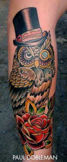 Beautiful owl tatoo by Paul Anthony Dobleman. Mermaid Tattoos, Feather Tattoos, Forearm Tattoos, Girl Tattoos, Tattoos For Guys, Tattoo Arm, Tatoos, Tattoos For Women Small, Small Tattoos