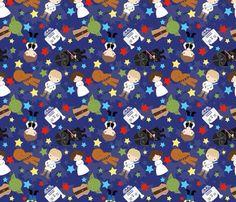 Children's Spaces   Patterns for Babies   Art Print   Illustration   Poster   Decoração Infantil   Padronagem para Bebês   Wallpaper   Ilustração para Impressão #Star #Wars #cute