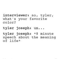 Tyler Joseph // twenty one pilots // but I love that