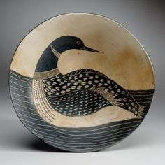 "MELISSA GREENE CERAMICS. DEER ISLE, MAINE.  8"" BOWL."