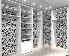 papel de parede no fundo do closet