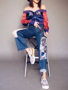 Judy Lacy|GROUND-ZEROのBaseball jacketを使ったコーディネート - WEAR