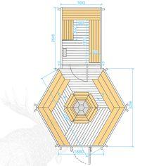 Nordic SPA - Grillkota 9,2 m² mit angebauter Sauna - Ihr Versandhandel für Badefass, Fasssauna und Grillkota