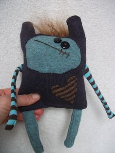 Lovable Monster Softie Meeks by mycheekylilmonkeys on Etsy, $30.95