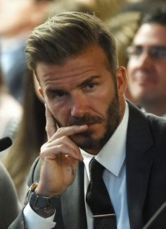 David Beckham Photos - Former soccer player David Beckham looks on during a Southern Nevada Tourism Infrastructure Committee meeting with Oakland Raiders owner Mark Davis (not pictured) at UNLV on April 28, 2016 in Las Vegas, Nevada. Davis told the committee he is willing to spend USD 500,000 as part of a deal to move the team to Las Vegas if a proposed USD 1.3 billion, 65,000-seat domed stadium is built by casino magnate Sheldon Adelson's Las Vegas Sands Corp. and real estate agency…