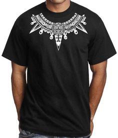 Aztec Warrior Mexican T Shirt Aztlan Mayan Brown Pride Mexico Lettrage Chicano, Chicano Art Tattoos, Aztec Tribal Tattoos, Aztec Tattoo Designs, Chicanas Tattoo, Chest Tattoo, Rags Clothing, Clothing Ideas, Tattoos Realistic