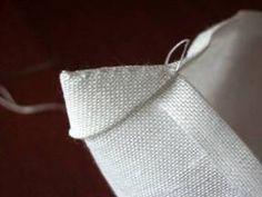 TOVAGLIA BIANCA DI FIANDRA N Mitered Corners, Macrame, Knots, Diy And Crafts, Embroidery, Stitch, Sewing, Accessories, Embroidery Stitches