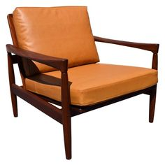 Wonderful Vintage Erik Wortz For Bröderna Andersson Danish Modern Teak Kolding Lounge  Chair