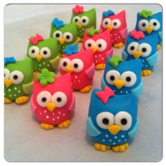 Retro Owl Cupcake toppers by HauteTart on Etsy, $22.00