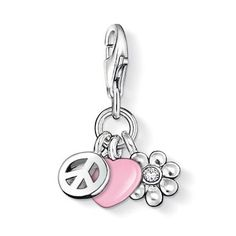 Peace and Love - Hippy, Flower Power - Thomas Sabo Charms