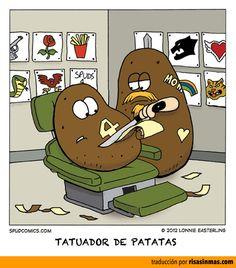 Tatuador de patatas.