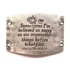 Lenny and Eva Jewelry Believe in impossible things Alice Wonderland Large Sentiment Cuff Bracelets