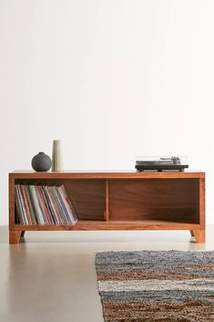 Vinyl Storage, Crate Storage, Record Storage, Storage Shelves, Large Furniture, Custom Furniture, Wood Furniture, Furniture Design, Record Player Cabinet