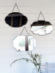 NEW Three Vintage Style Bevelled Mirrors - Indoor Living Retro Mirror, Vintage Mirrors, Hall Mirrors, Hanging Mirrors, Mirror Bed, Art Deco Bathroom, Dressing Table Mirror, Victorian Cottage, Vintage Interiors