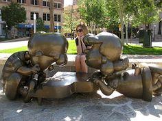 Peanuts Gang statue St. Paul, MN downtown