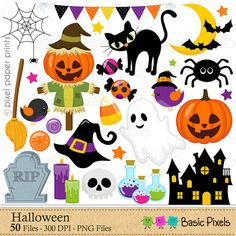 Halloween clip art  Clipart for Personal and commercial use