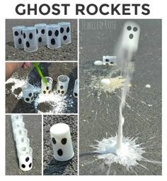Flying Ghost Rockets- these rockets fly high into the air.  FUN Fall Science kids love