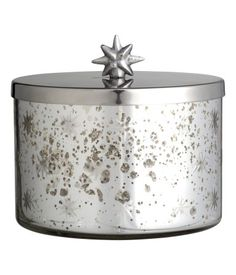 Large Glass Box with Lid | Silver/stars | Home | H&M US