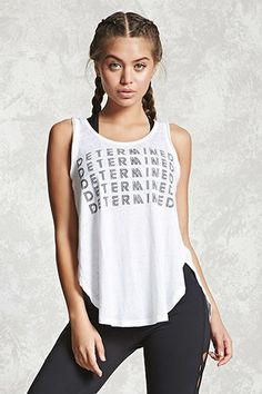 A burnout knit tank top featuring a repeated