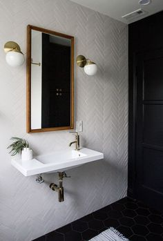 interesting wall tile layout ♡ http://teaspoonheaven.com