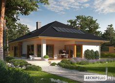#Dom Liv 3 G1 dzięki dużej ilości okien, w tym okien połaciowych imponuje swoim słonecznym charakterem.
