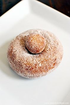 """Thomas Keller's Cinnamon-Sugar Doughnuts~~~  Methinx that @Jenai May and I should really be trying to make such a thing/ssss! I've """"wishlisted"""" the French Laundry cookbook that this person used as a guide. Wowzers. This makes me feel that I really CAN make donuts at home, and not bricks!"""