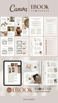 This simple, modern, clean, and editable A4 & US letter template pack is perfect for savvy business owners on a budget looking to brand themselves professionally.I've prepared a total of 120 templates, the perfect design for eBook, lead magnet, workbook, PDF, etc.This template pack works for both free and pro-Canva users. Letter Templates, Print Templates, Huge Design, Social Media Template, Ebook Pdf, Presentation Templates, Budgeting, Lead Magnet, Lettering