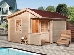 Mit dem WEKA Pokka OS 45 mm Saunahaus holen Sie sich Entspannung in Ihren Garten. Shed, Outdoor Structures, Lawn And Garden, Barns, Sheds