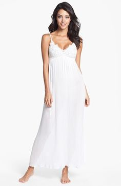 "Love this for a demure bridal look in lingerie.  'In Bloom"" by Jonquil 'Bridal' Long Gown found in  Nordstrom."
