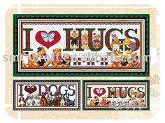 """I love Hugs"" cross stitch kit,View cross stitch,OMT Product Details from Shanghai Shenlei Artware Co., Ltd. on Alibaba.com"