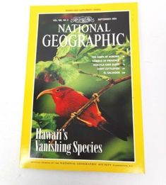 National Geographic Magazine September 1995 Hawaii Birds Includes Info Fold Out Hurry Now! Cover Pics, Digital Photography, National Geographic, Hawaii, September, Birds, Joy, Magazine, Sewing Patterns