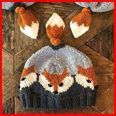 Knit an adorable Fox hat - it has a tail on top! Knit an adorable Fox hat – it has a tail on top! – Knit An Adorable Fox Hat – It Has a Tail O Baby Knitting Patterns, Baby Patterns, Free Knitting, Crochet Patterns, Loom Knitting, Knitting Stitches, Baby Sweater Patterns, Kids Knitting, Knitting Machine